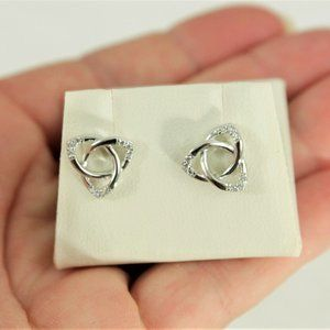 New Sterling Silver Earrings Ireland Celtic Knot